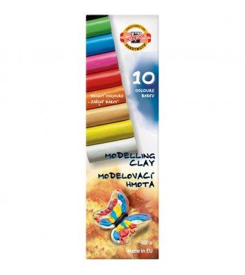 """Пластилін 10 кольорів 200г """"Метелик"""", KOH-I-NOOR"""