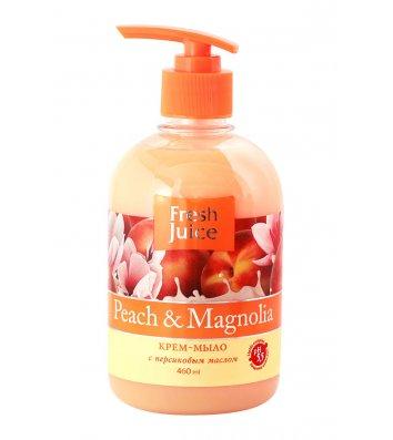 Мило рідке 460мл Fresh Juice з гліцерином Peach&Magnolia