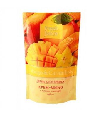 Мило рідке 460мл Fresh Juice пакет Mango&Carambola