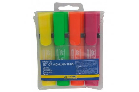 Набір текстових маркерів 4 кольори, Buromax