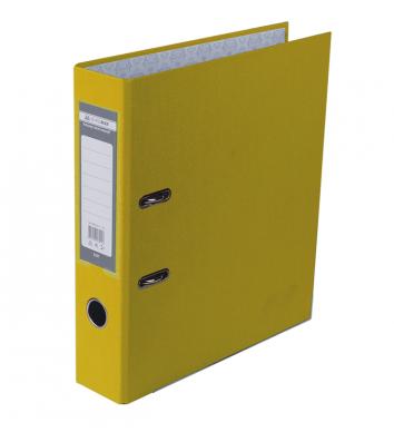 Папка-регистратор А4 70мм односторонняя желтая Lux, Buromax