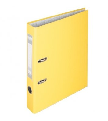 Папка-регистратор А4 50мм односторонняя желтая Lux, Buromax