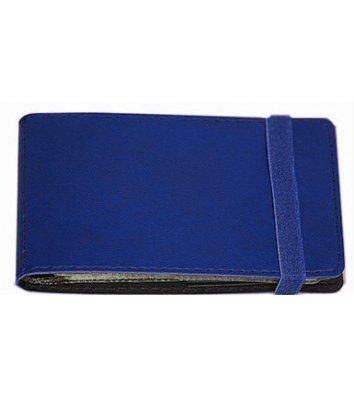 Визитница на 20 визиток на резинке Vivella темно-синяя, Optima