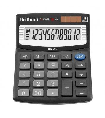 Калькулятор 12 розрядів 124*100*33мм, Brilliant