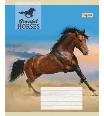 Тетрадь 60 листов линия, обложка Животные в ассортименте