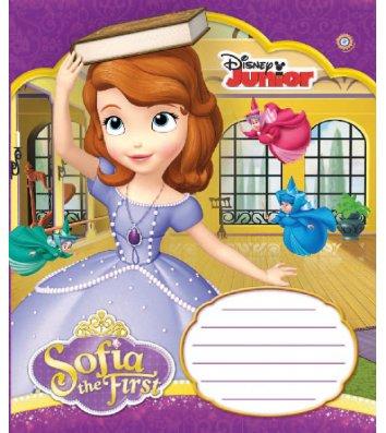 Тетрадь 12 листов косая линия, обложка для девочек в ассортименте