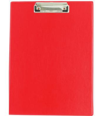 Планшет А4 с прижимом PVC красный, Buromax