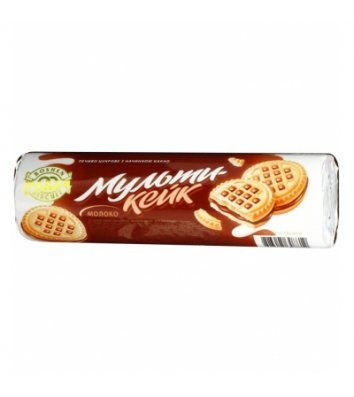 """Печиво """"Мульти-кейк"""" молоко 180г, Roshen"""
