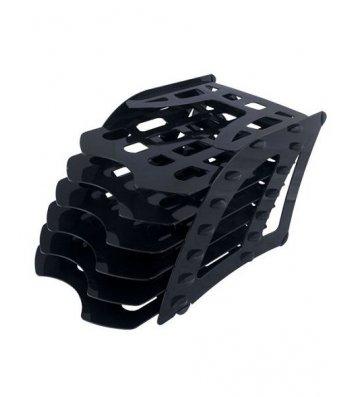 Лоток збірний на 6 відділень пластиковий чорний, Arnika