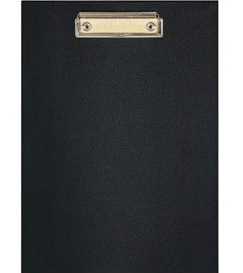 Планшет А5 с прижимом, искусственная кожа черный, Economix