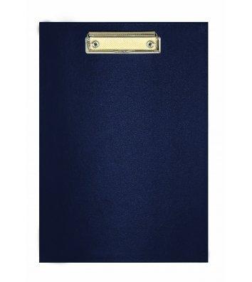 Планшет А5 с прижимом, искусственная кожа синий, Economix