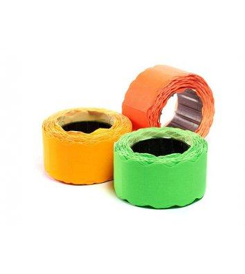 Этикетки-ценники 12*26мм 3м фигурные цветные ассорти