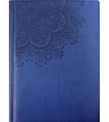 """Щоденник напівдатований А5 Vivella """"Візерунок Коло"""" темно-синій, Optima"""