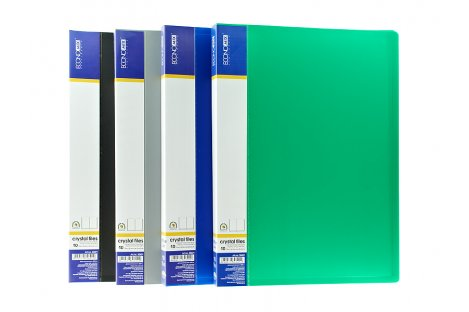 Папка А4 пластикова з 10 файлами асорті, Economix