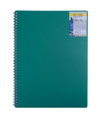 Блокнот A6 80л клетка Classic, боковая спираль зеленый, Buromax