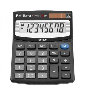 Калькулятор  8 розрядів 100*124*33мм, Brilliant
