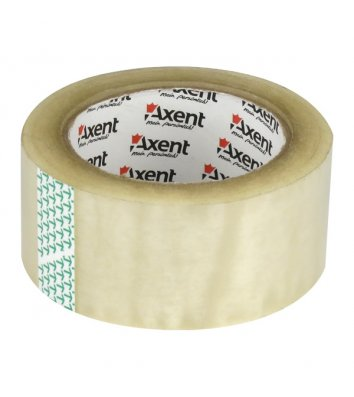 Стрічка клейка 48мм*100м пакувальна прозора, Axent