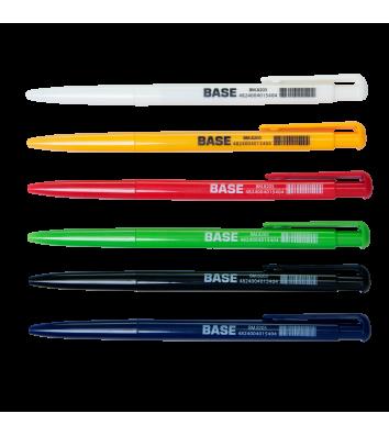 Ручка кулькова автоматична Base, колір чорнил чорний 0,7мм, Buromax
