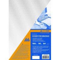 Обложка для переплета А4 150 мкм 50шт пластиковая прозрачная бесцветная, Buromax
