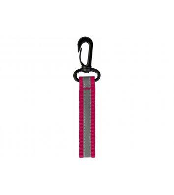 Брелок светоотражающий на пластиковом карабине розовый, Maxi