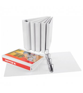 Папка презентаційна А4 30мм на 4  кільцях двостороння біла Панорама, Esselte
