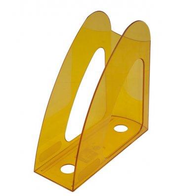 Лоток вертикальный пластиковый лимонный прозрачный, Arnika