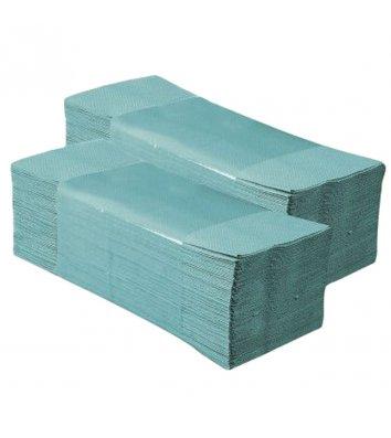 Полотенца бумажные однослойные 160шт Z-сложения зеленые Buroclean