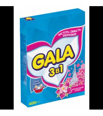 Засіб для прання Gala 400г 2в1 ручне прання, французький аромат