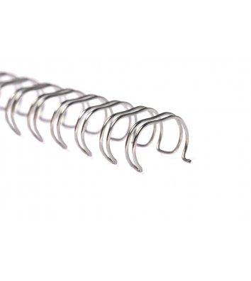 Пружини для брошурування  6,4мм 100шт металеві сріблясті, DA