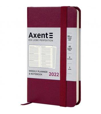 Щотижневик датований 2022 Pocket Strong 90*150мм бордовий, Axent