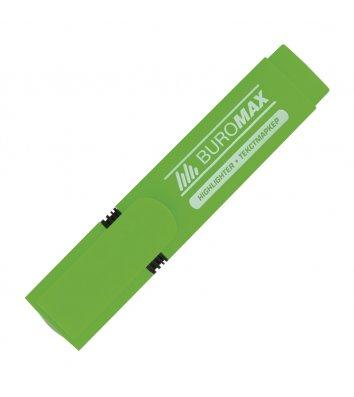 Маркер текстовий, колір чорнил зелений 2-4мм, Buromax
