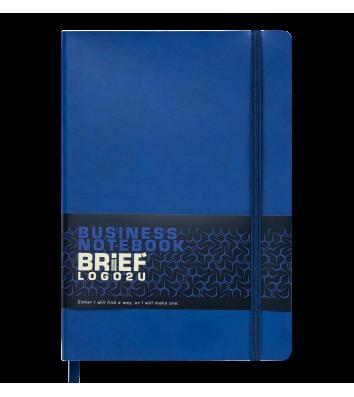 Діловий записник клітинка А5 Brief синій, Buromax