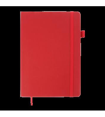 Діловий записник клітинка А5 Brief червоний, Buromax