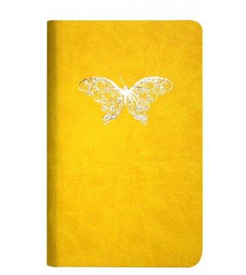 """Діловий записник А5 Vivella """"Метелик"""" жовтий, Optima"""