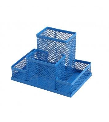 Підставка канцелярська металева синя, Zibi