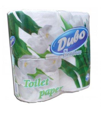 Папір туалетний двошаровий 4рул/уп Диво Економ целюлозний, білий