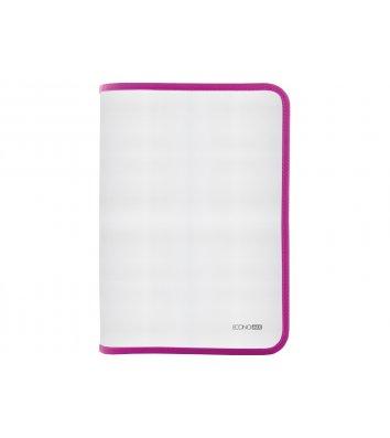 Папка A4 пластиковая прозрачная с розовой молнией, Economix