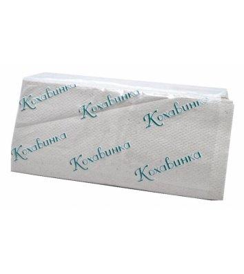 Полотенца бумажные однослойные 170шт Z-сложения серые, Кохавинка
