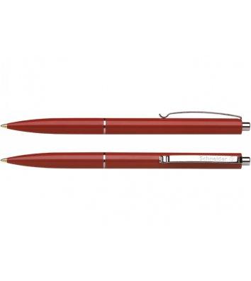 Ручка шариковая автоматическая К15, корпус красный, цвет чернил красный 0,7мм, Schneider