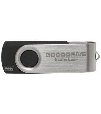 Флеш-пам'ять 16GB Goodram Twister, корпус сріблясто-чорний