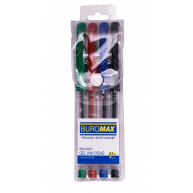 Набір гелевих ручок 4 кольори, Buromax