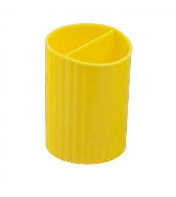 Підставка канцелярська пластикова жовта, Zibi
