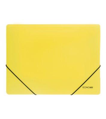 Папка А4 пластиковая на резинках желтая, Economix