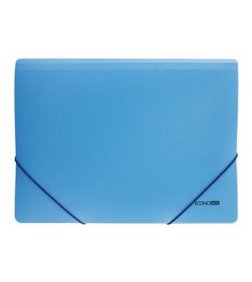 Папка А4 пластиковая на резинках голубая, Economix