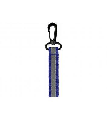 Брелок светоотражающий на пластиковом карабине синий, Maxi