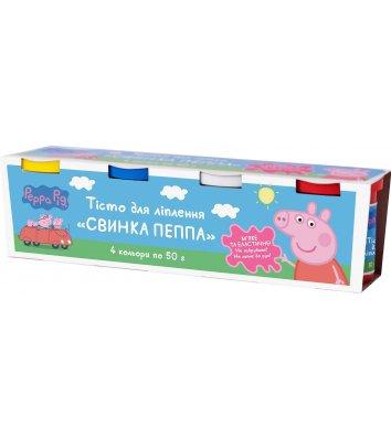 """Тісто для ліплення  4 кольори """"Свинка Пеппа"""", Перо"""