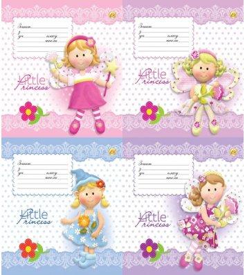 Тетрадь 12 листов линия, обложка для девочек в ассортименте