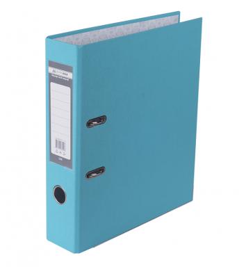 Папка-реєстратор А4 70мм одностороння блакитна Lux, Buromax