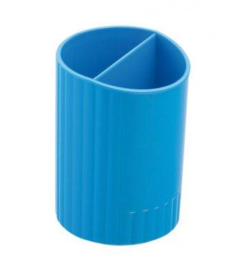 Подставка канцелярская пластиковая синяя, Zibi