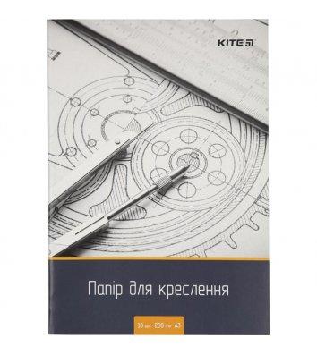 Папір для креслення  А3 10аркушів, 200г/м2, Kite